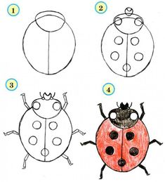 Step by Step Drawing Tutorials for Kids of All Ages - Learn to Draw Insects / How to Draw. Painting and Drawing for Kids / Luntiks. Children's Arts and Crafts Activities. Drawing and Poems Learning To Draw For Kids, Drawing Lessons For Kids, Drawing Tutorials For Kids, Easy Drawings For Kids, Art Lessons, How To Draw Kids, Drawing Ideas, Painting For Kids, Painting & Drawing