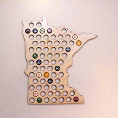 Beer Cap Map USA US Beer Bottle Cap Map Craft Beer Map Cap Map