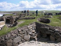 Skara Brae is a stone-built ten-home cluster forming a Neolithic settlement located on the Bay of Skaill on the west coast of Mainland, Orkney, Scotland.