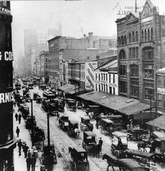 1906: Pittsburgh's Liberty Avenue - during the pre-industrial era, Liberty Avenue was the most desirable residential area of Pgh. In 1894, the construction of the Joseph Horne Co. department store marked a new era for Liberty Avenue & Downtown - the advent of retail in Pittsburgh. But then came the 1930s with the Depression, then the famed St. Patrick's Day Flood. Liberty Avenue, as a result, endured significant damage & subsequent decay.