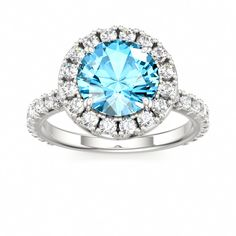 Romantic Halo Engagement Ring PRIDE at Colors of Eden #blue