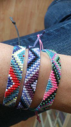 Handgeweven kralenarmbandje/Loom beaded bracelet door Suusjabeads