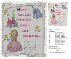 Cuadro nacimiento punto de cruz una princesa (click to view)