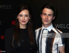 Actors Katherine Langford (L) and Dylan Minnette attend Netflix's '13 Reasons Why' FYC event at Netflix FYSee Space on June 2, 2017 in Beverly Hills, California.