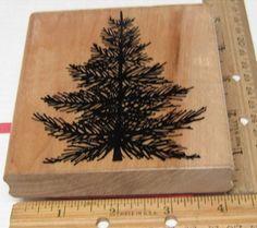 O CHRISTMAS TREE BY JRL DESIGN RUBBER STAMP #JRL #rubberstamp Stamps, Christmas Tree, Things To Sell, Holiday, Nature, Crafts, Ebay, Design, Seals