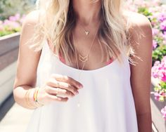 Accessorizing your plain white tee? Opt for layers of @gorjanagriffin.