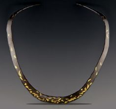 anticlastic sinclastic jewelry | Keum Boo, Forged, Fabrication, Patina; 24K Gold, Sterling Silver