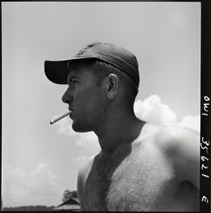 """July 1943. """"Myrtle Beach, S.C. Air Service Command. Mobile chief Technical Sergeant Vasile Choken, whose home is in Akron, Ohio. In civilian life he drove a truck, ran a filling station and spent two years in the Civilian Conservation Corps."""" Photo by Jack Delano for the Office of War Information."""