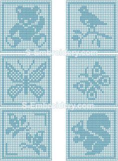 Freestanding lace crochet square set