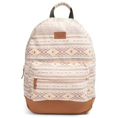 Women's Rip Curl 'surf Bandit' Woven Backpack (1.685 UYU) ❤ liked on Polyvore featuring bags, backpacks, accessories, bookbags, bolsas, dusty rose, rip curl bags, rip curl, day pack backpack and pink backpack