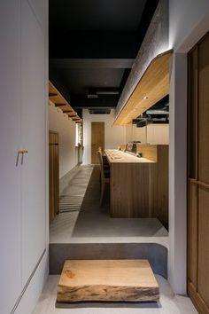 焼とり はま田 焼き鳥ダイニングの内装・外装画像 Japanese Restaurant Interior, Small Restaurant Design, Restaurant Plan, Restaurant Concept, Restaurant Interior Design, Small Restaurants, Sushi Restaurants, Shop Front Design, Store Design