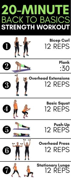 This 20-minute strength training routine contains some of these building blocks of fitness: squats, lunges, planks, push-ups, and more. It's a quick, total-body workout that utilizes all the major muscle groups through basic movements needed to build strength. #weightlossworkout #workoutroutines #strengthworkout #Fitness https://www.youtube.com/watch?v=Q96gA6-kRZk