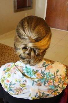 Updo for long hair. Updo for medium hair. Updo. Bridal hair.