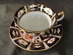Vintage Royal Crown Derby Cup & saucer Imari 2451 #RoyalCrownDerby