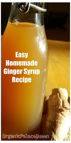 Flu Remedies DIY medicinal ginger syrup for colds and inflammation. - Easy to make DIY ginger syrup medicinal recipe to make tea, and to use as a natural cold remedy and upset stomach remedy. Homemade Cold Remedies, Cold Remedies Fast, Natural Cold Remedies, Flu Remedies, Holistic Remedies, Herbal Remedies, Health Remedies, Sleep Remedies, Arthritis Remedies