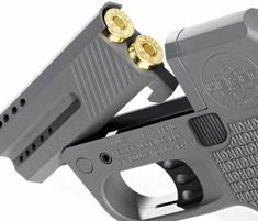 According to Heizer's website, the DoubleTap is the world's smallest and lightest .45 ACP concealed carry pistol on the market, and it has several patents pending. Two rounds can be stored in the gun's chamber with two additional bullets in the grip. Unlike any firearm, the DoubleTap features a truly revolutionary double-action trigger system that utilizes ball bearings for a smooth action and crisp trigger pull.