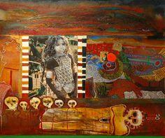 Woman's Healing Song by Jane Ash Poitras, Cree artist kK Kunstjournal Inspiration, Art Journal Inspiration, Robert Rauschenberg, Native American Artists, Canadian Art, Native Art, Art Classroom, Collage Art, Art Boards