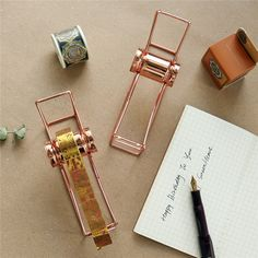Printer Projects New York Washi, Tape Dispenser, Masking Tape, Storage Organization, Wedding Events, Rose Gold, Or Rose, 3d Printing, Arrow Necklace