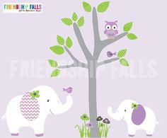 Mini Jungle Decals Small elephant Wall Decal por FriendshipFalls, $42.00