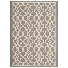 Courtyard Gray/Beige 8 ft. x 11 ft. Indoor/Outdoor Rectangle Area Rug