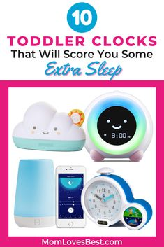 When your child bounces into your bedroom at 4 a.m., it's hard to power through your day. The best toddler okay-to-wake clocks can help your kid -- and you -- stay in bed longer. Toddler Alarm Clock, Sleep Schedule, Sleeping Through The Night, Stay In Bed, Baby Sleep, Clocks, Things That Bounce, Bedroom, Children