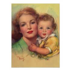 Shop Vintage Mother and Child Family Portrait Postcard created by YesterdayCafe. Personalize it with photos & text or purchase as is! Vintage Pictures, Vintage Images, Mothers Love, Happy Mothers, Beste Mama, Mother And Child, Mother Mother, Mother Art, Vintage Cards