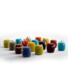 Carry On Stools has round but simple forms and combines traditional materials and craftsmanship with contemporary design and functions.  It gives a tailored impression with stitching that communicates good craftsmanship. It is easy to stack Carry On, which means that it does not have to be stored elsewhere when not used.  http://www.apresfurniture.co.uk/carry-on-stools