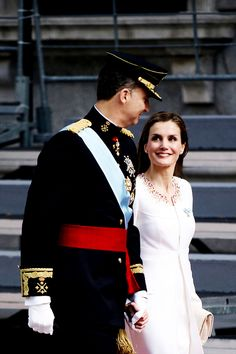misshonoriaglossop:   Installation of King Felipe, June 19, 2014-King Felipe and Queen Letizia