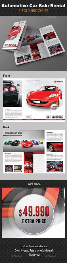 Automotive Car Sale Rental Fold Brochure   Brochures Brochure