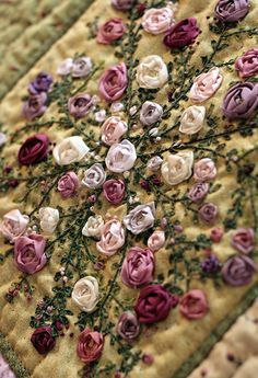 Beautiful Talent~Lovely Handmade Flowers Embroidery~❥