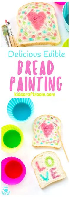ART YOU CAN EAT is such fun! Check out our easy EDIBLE PAINT RECIPE and get the kids busy creating their own VALENTINE\'S DAY MASTERPIECES. #valentine #valentinesday #valentinescraft #valentinecraft #valentinescrafts #valentinecrafts #valentinesdayforkids #valentinesdayartforkids #valentinesdayideas #valentinesdaycrafts #heartcrafts #love #paintrecipe #kidsart #processart #painting #paintingideas #kidspainting #paintingforkids #kidscrafts #kidscrafts101 #kidscraftideas