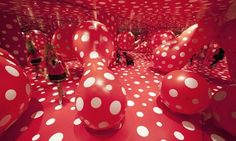 Yayoi Kusama's installation Metamorphosis, part of Walking in My Mind, Hayward Gallery, London Photograph: David Levene