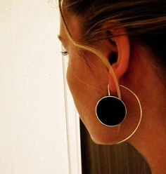 Long Sterling Silver Earrings Big Statement Silver Resin Earrings on Etsy $94.03 AUD These are amazing!