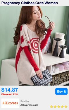519f2258a6ca Pregnancy Clothes Cute Women Pregnant Cotton Striped Bat Full Pullovers O  neck Long Sweater Maternity Clothing Freeshipping -in Pullovers from Mother    Kids ...