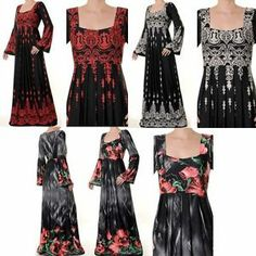 just can't get over the interesting stuff by missmode21 on ebay; not only this great gypsyish/piratey red/black square-necked dress, but others that would be welcome at a little house on the prairie...