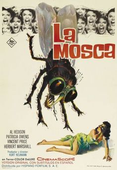 The Fly (1958) movie poster (Spain)
