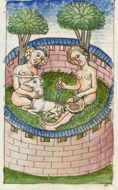 Karlsruhe : Badische Landesbibliothek, Donaueschingen 145, detail of 67v. Gesta romanorum (c.1452)