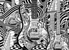 10 Pack Printable Adult Coloring Pages Set Of Music Art Poste
