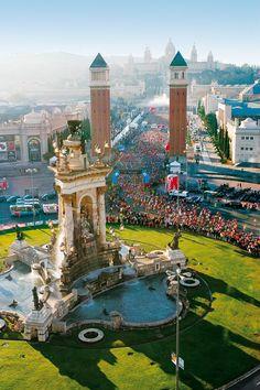 Marató a Montjuic, Barcelona, Catalonia