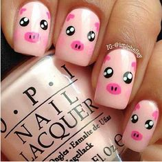 Cute piggy nails