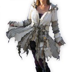 Recycled Sweater Coat   Cottonwood  L/XL  by greenoakcreations, $325.00