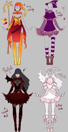 Outfits adopts 2 - Paypal Auction CLOSED by rika-dono.deviant... on @deviantART