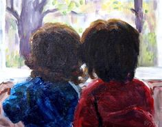 """Daily Paintworks - """"Friends Challenge"""" by Maggie Flatley"""