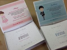 Entrega de hoje!  Convite para Daminhas e Pajens 😍👸👨👰💕 #casamento #daminhas #pajens #convite #blogdecasamento #dicasdecasamento