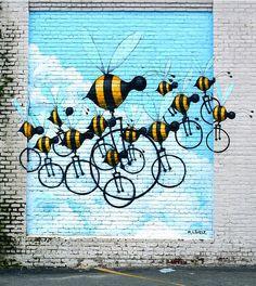 Bees on Bikes @ RVA Street Art Fest 2013