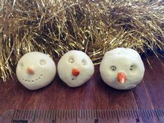 Add some quirkiness to your holiday with these cheeky snowman faces. #handmadeholiday #holiday #christmas #winter Oxide Pottery  Lynchburg, Virginia