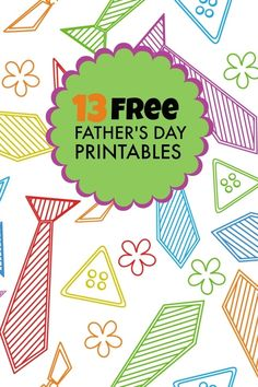 Free Father's Day Printables www.spaceshipsandlaserbeams.com