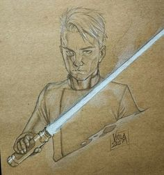 Quick sketch on craft paper of a guy with a #lightsaber on a very unproportioned arm and hand... Probably I shouldn't post it but it's still something to keep this page alive!  Next time will be better  #sketches #sketch #art #artist #artofinstagram #inking #handdrawn #pencil #ink #originalart #scribble #draw #drawing #drawings #illustration #illustrations #comics #drawingoftheday #doodle #moleskine #traditional #concept #jedi #sith