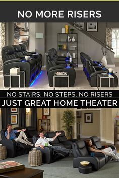home theater seating ~ home theater ideas ; home theater rooms ; home theater ; home theater design ; home theater seating ; home theater ideas on a budget ; home theater ideas basement ; home theater decor Home Theater Room Design, Movie Theater Rooms, Home Cinema Room, Home Theater Setup, Best Home Theater, Home Theater Seating, Theater Seats, Theater Room Decor, Movie Rooms
