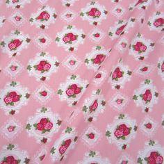 Stoff Baumwolle Stenzo rosa pink Rosen im Rahmen von Werthers Stoffe auf DaWanda.com